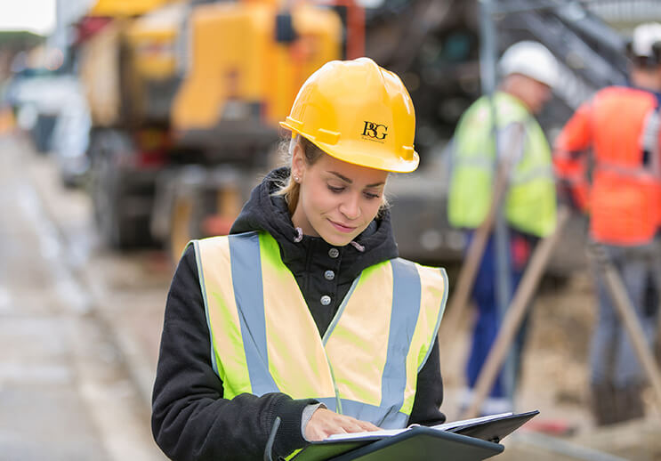 Canva Female Construction Managing Project